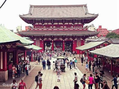 Храм Сэнсо-дзи, р-н Асакуса в Токио