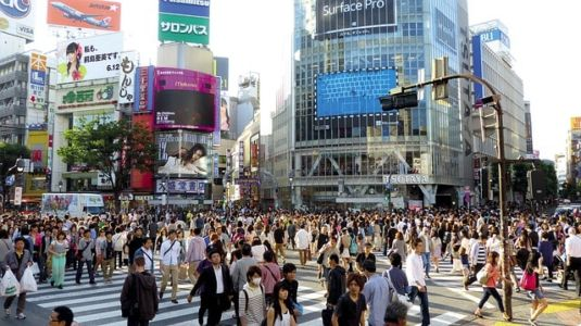 Знаменитый перекресток Сибуя в Токио