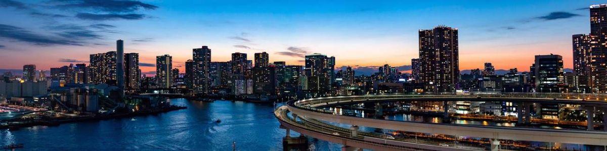 Радужный мост в районе Одайба в Токио