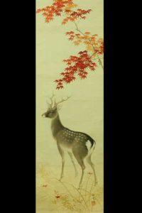 Какемоно прокрутка японская картина