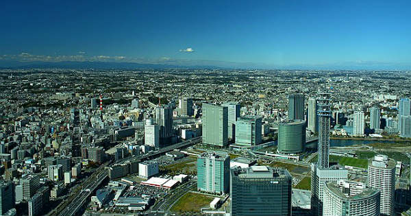 Йокогама вид на город