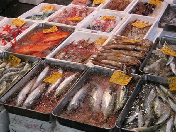 Рынок Цукидзи Токио морепродукты