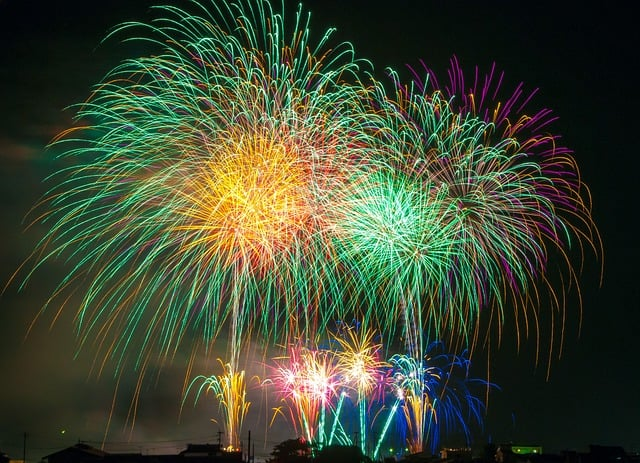 fireworks-Ханаби япония фейерверк