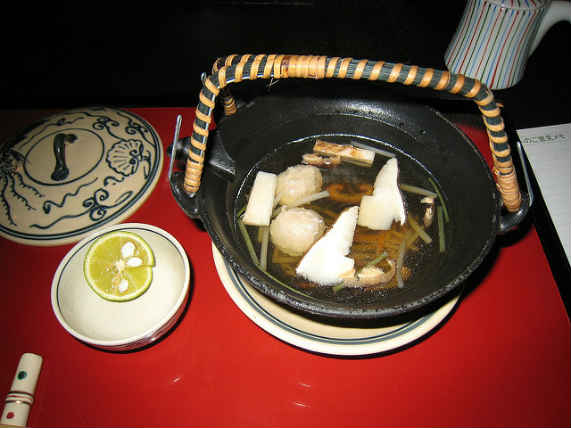 суп с мацутакэ