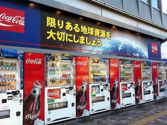 японские торговые автоматы много