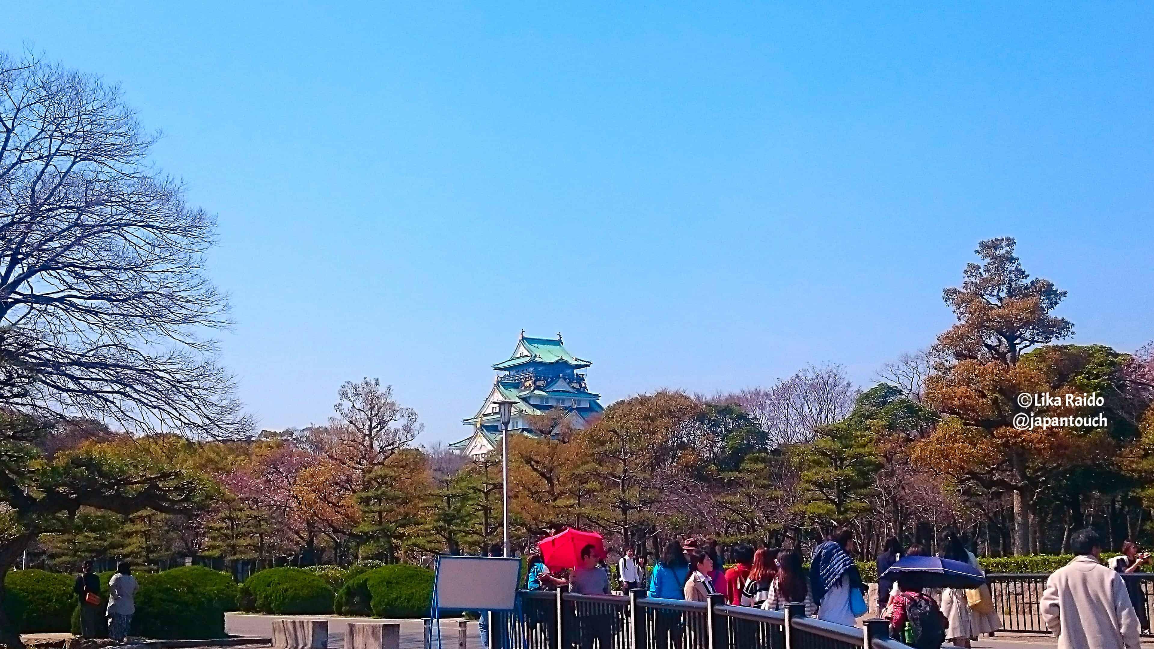 Величественный Замок Осаки, наследие Тоётоми Хидэёси.
