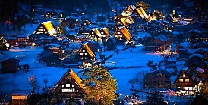 Сиракава-го — старинная японская деревня — достопримечательность, объект наследия ЮНЕСКО!