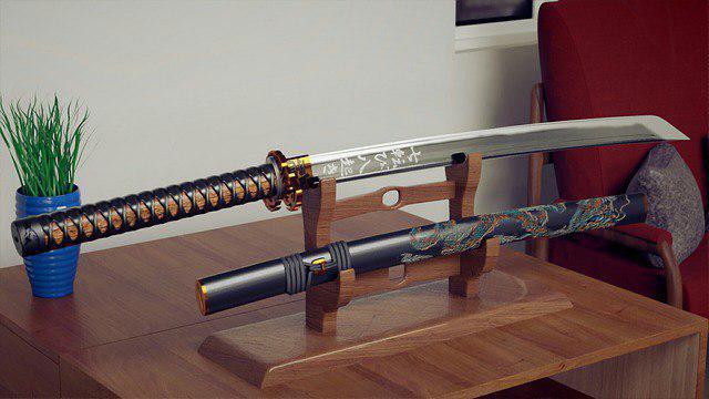 Два меча японского самурая