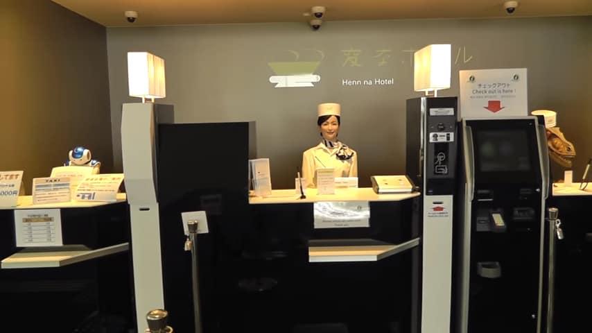 Отель без людей! Интересный японский отель с роботами.