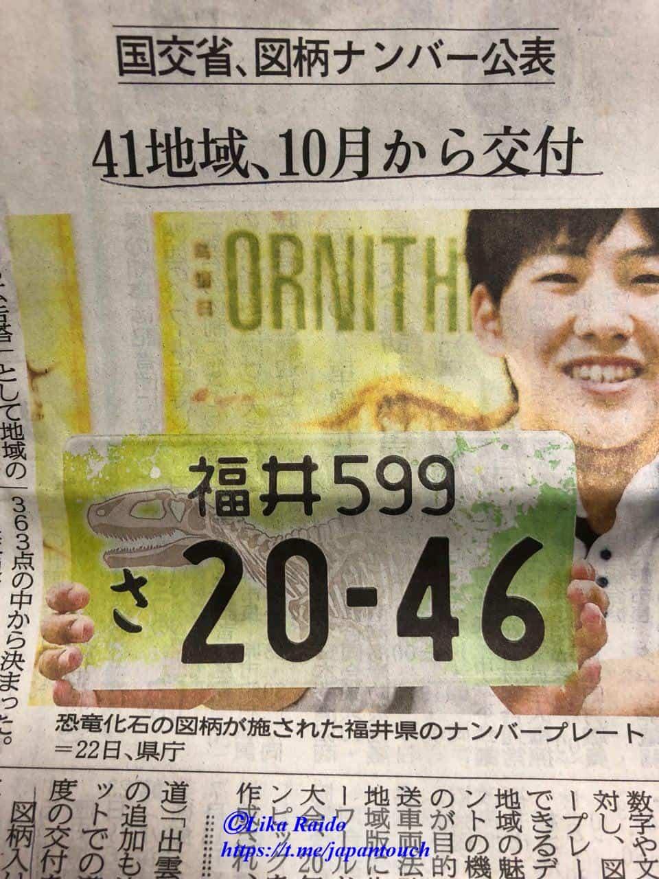 Необычные номерные знаки в Японии появятся в октябре.
