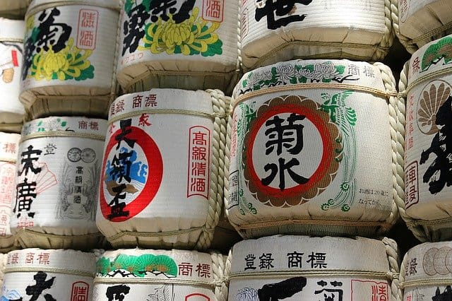 Бочки с японским саке
